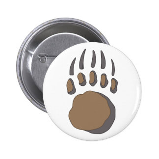 BEAR PAW PINBACK BUTTON