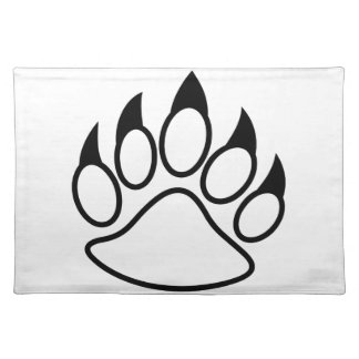Bear Paw Cloth Place Mat
