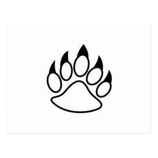 Bear Paw Postcard