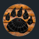 "BEAR PAW PRINT AND LOGS DARTBOARD<br><div class=""desc"">BEAR PAW PRINT AND LOGS</div>"