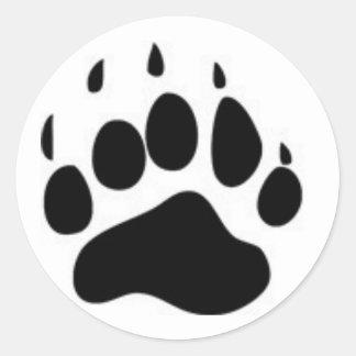 Bear Paw Print Classic Round Sticker