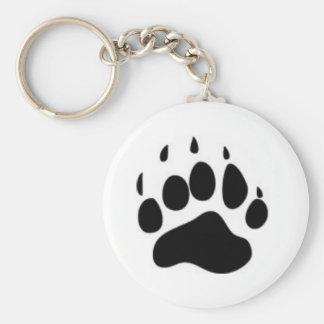 Bear Paw Print Keychain