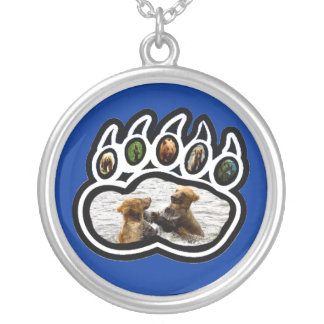 Bear Paw Silver Plated Necklace