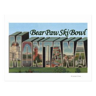 Bear Paw Ski Bowl, Montana - Large Letter Scenes Postcard