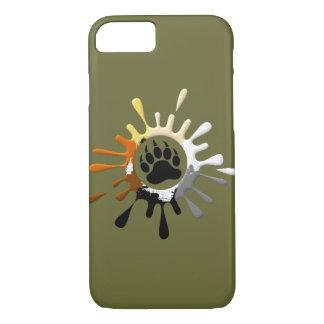 Bear Paw Splash Bear Pride Colors iPhone 8/7 Case