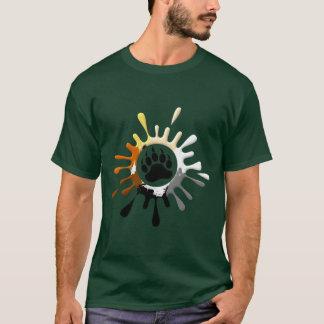 Bear Paw Splash gay Bears Pride T-Shirt