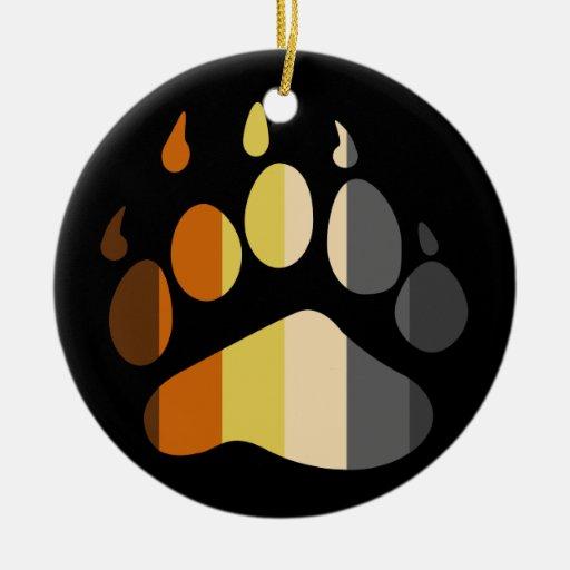 Bear Paw Stripe Ornament
