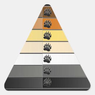 Bear Paw Stripes Triangle Sticker