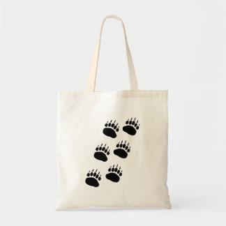 Bear Paw Track Tote Bag
