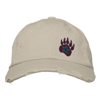 Bear Paw Wild Star Embroidery Embroidered Baseball Cap