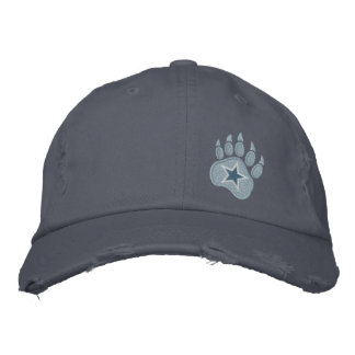 Bear Paw Wild Star Embroidery Embroidered Baseball Caps