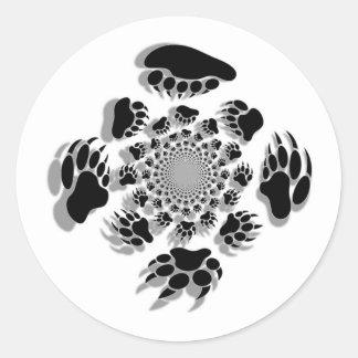 Bear Paws Classic Round Sticker