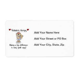 Bear Pediatric Nurses T-shirts and Gifts Label