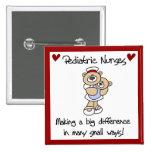 Bear Pediatric Nurses T-shirts and Gifts Pin