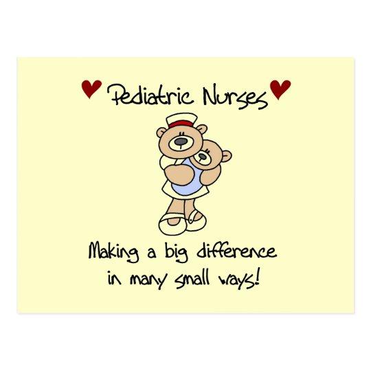 Bear Pediatric Nurses T-shirts and Gifts Postcard
