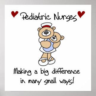 Bear Pediatric Nurses T-shirts and Gifts Poster