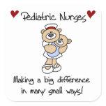 Bear Pediatric Nurses T-shirts and Gifts Square Sticker