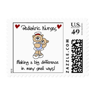 Bear Pediatric Nurses T-shirts and Gifts Stamps