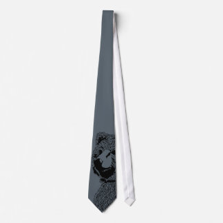 Bear Peek Tie Gray