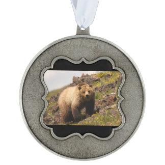 bear pewter ornament