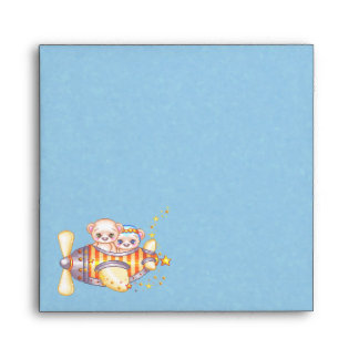 Bear Plane Pixel Art Airplane Envelope