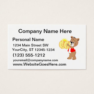 bear playing cymbals red shirt.png business card