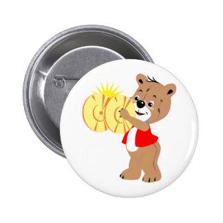 bear playing cymbals red shirt png pin