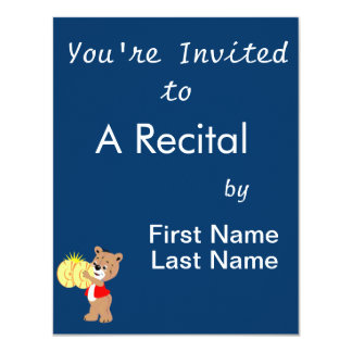bear playing cymbals red shirt.png 4.25x5.5 paper invitation card