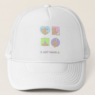 Bear playing with Blocks-Apparel Trucker Hat