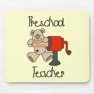 Bear  Preschool Teacher Tshirts and Gifts Mouse Pads