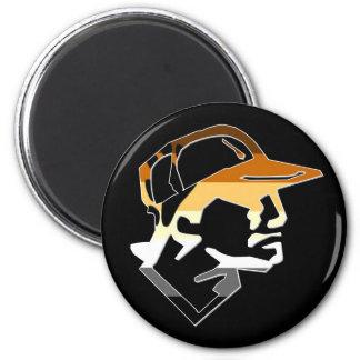 Bear Pride Baseball Magnet
