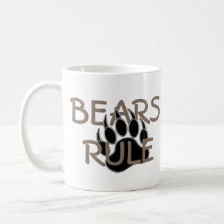 Bear Pride Bear Paw Bears Rule Classic White Coffee Mug