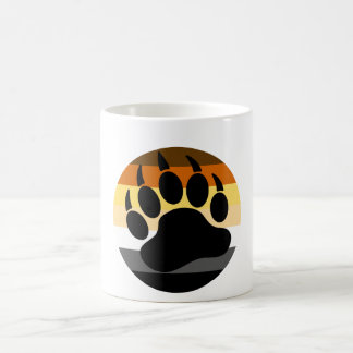 Bear Pride Bear Paw Circle Classic White Coffee Mug