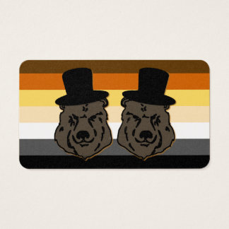 Bear Pride Bears Contact Card for Gay Grooms