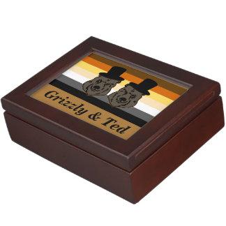Bear Pride Bears Gay Grooms' Wedding Gift Memory Box