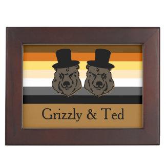 Bear Pride Bears Grooms' Wedding Gift Memory Boxes