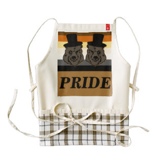 Bear Pride Bears Heart Apron with Gay Grooms