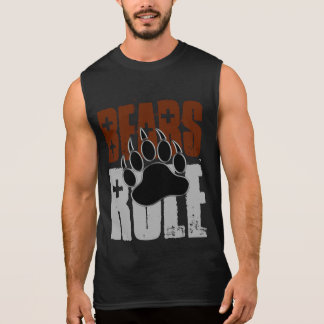 Bear Pride Bears Rule Bear Paw Sleeveless Shirt