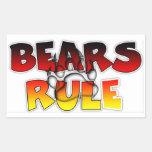 Bear Pride Bears Rule Rectangular Sticker