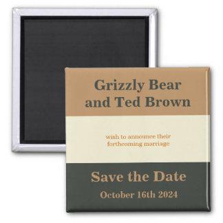 Bear Pride Bears Save The Date Magnet Gay Wedding