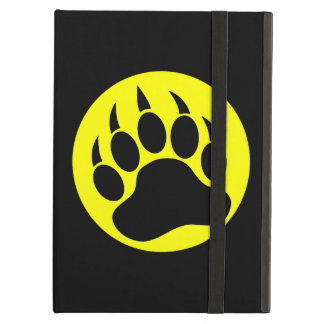 Bear Pride Black and Yellow Bear Paw iPad Air Case