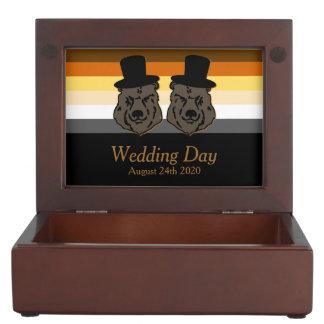 Bear Pride Black & Gold Gay Grooms' Wedding Gift Keepsake Boxes