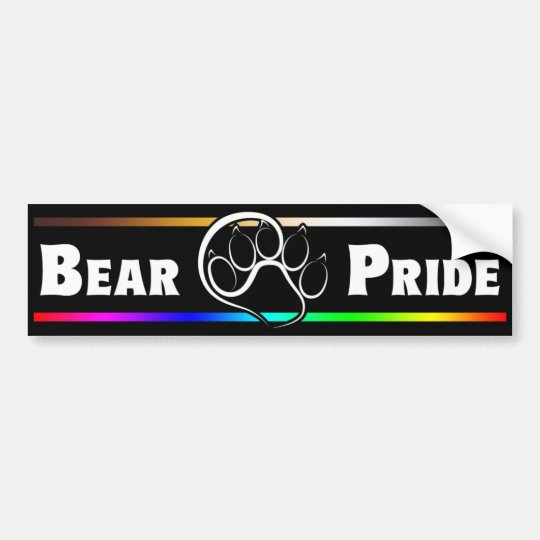 Bear Pride Bumper Sticker
