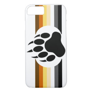 Bear Pride colors stripes and Bear Paw iPhone 7 Case