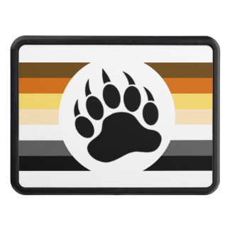 Bear Pride colors stripes and Bear Paw Tow Hitch Cover