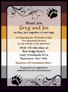 bear wedding invitations zazzle