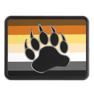 Bear Pride Flag Bear Paw Tow Hitch Cover