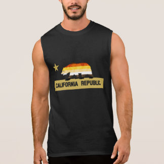 Bear Pride Flag California Bear pride Sleeveless Shirt