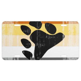 BEAR PRIDE FLAG DISTRESSED DESIGN - 2014 PRIDE.png License Plate
