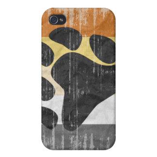 BEAR PRIDE FLAG DISTRESSED DESIGN CASE FOR iPhone 4